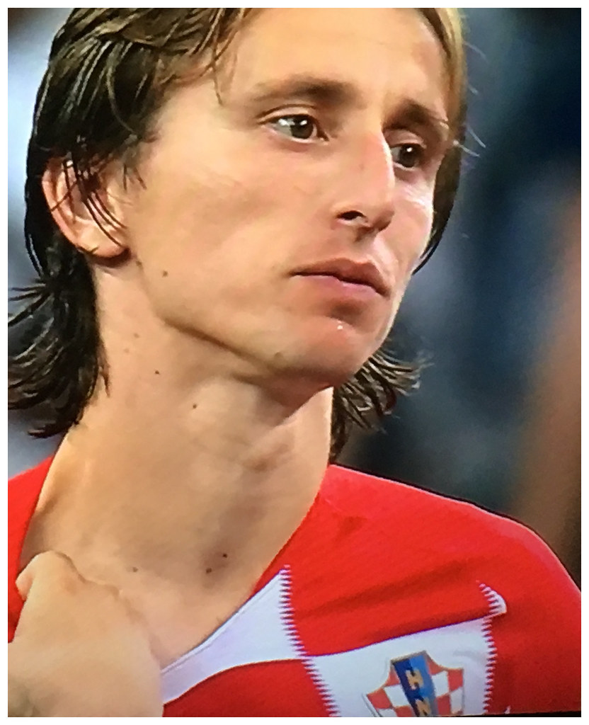 Modric - one of Croatia's major talents - taking in defeat.