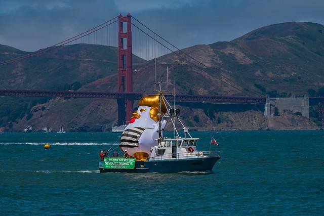 President Chicken Goes to Jail: Golden Gate Bridge