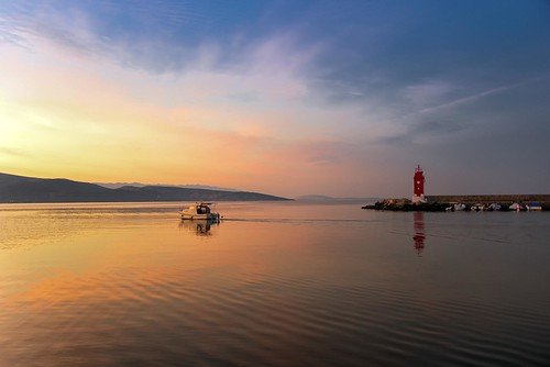 clouds lighthouse boat fisherman reflection sunrise beautiful krk croatia nikon nikond750 nikkor283003556 gazzda hrvojesimich