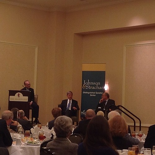 Pulitzer Prize-winning columnists Steven Pearlstein and George Will #JSspeaker