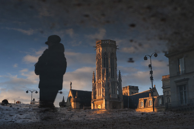 Paris, le beffroi de l'église Saint-Germain-l'Auxerrois