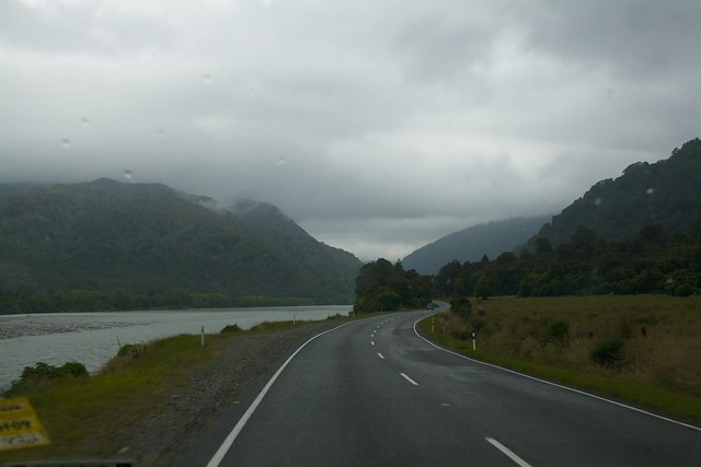 A rainy start to the Buller Gorge drive