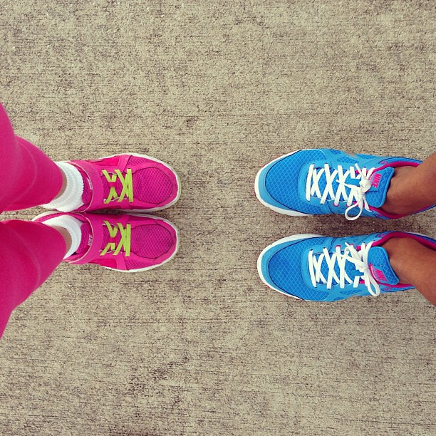 Mother/daughter run time  Going running with Chloe  She us