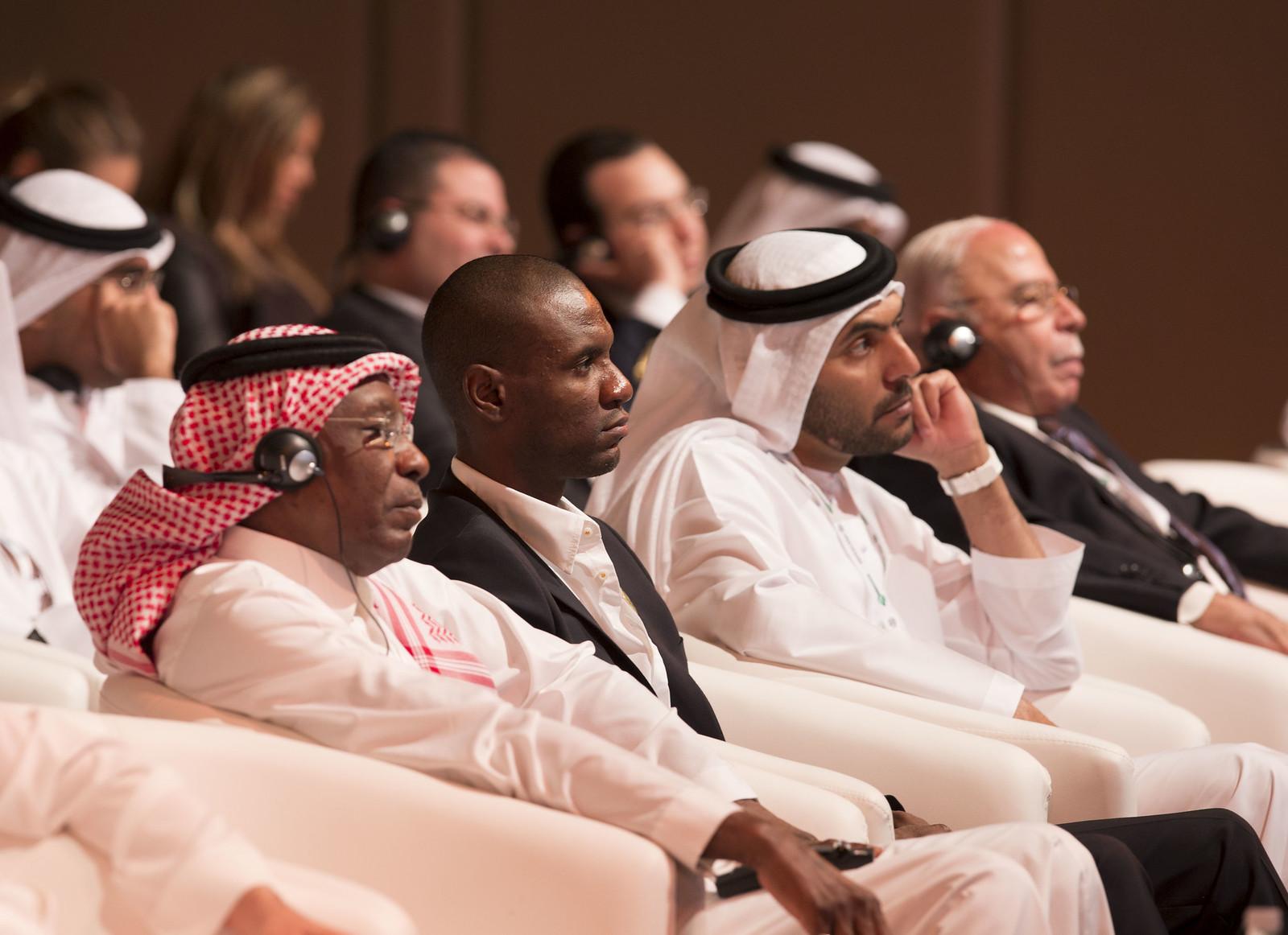 Ahmed Eid Al Arbi, Eric Abidal and Abdullah Al Nabooda