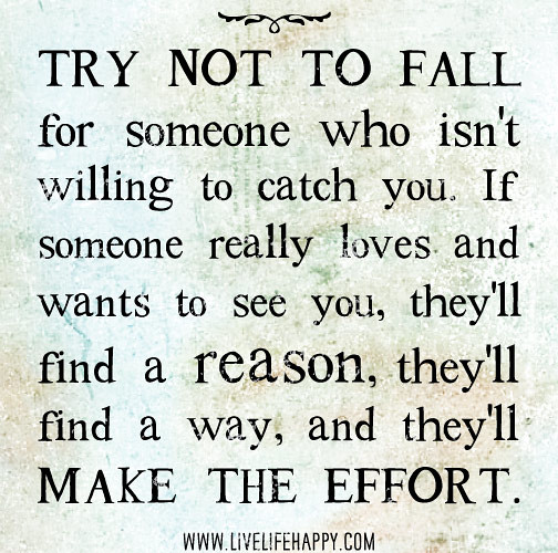 Try not to fall for someone who isn\u0027t willing to catch you\u2026 | Flickr