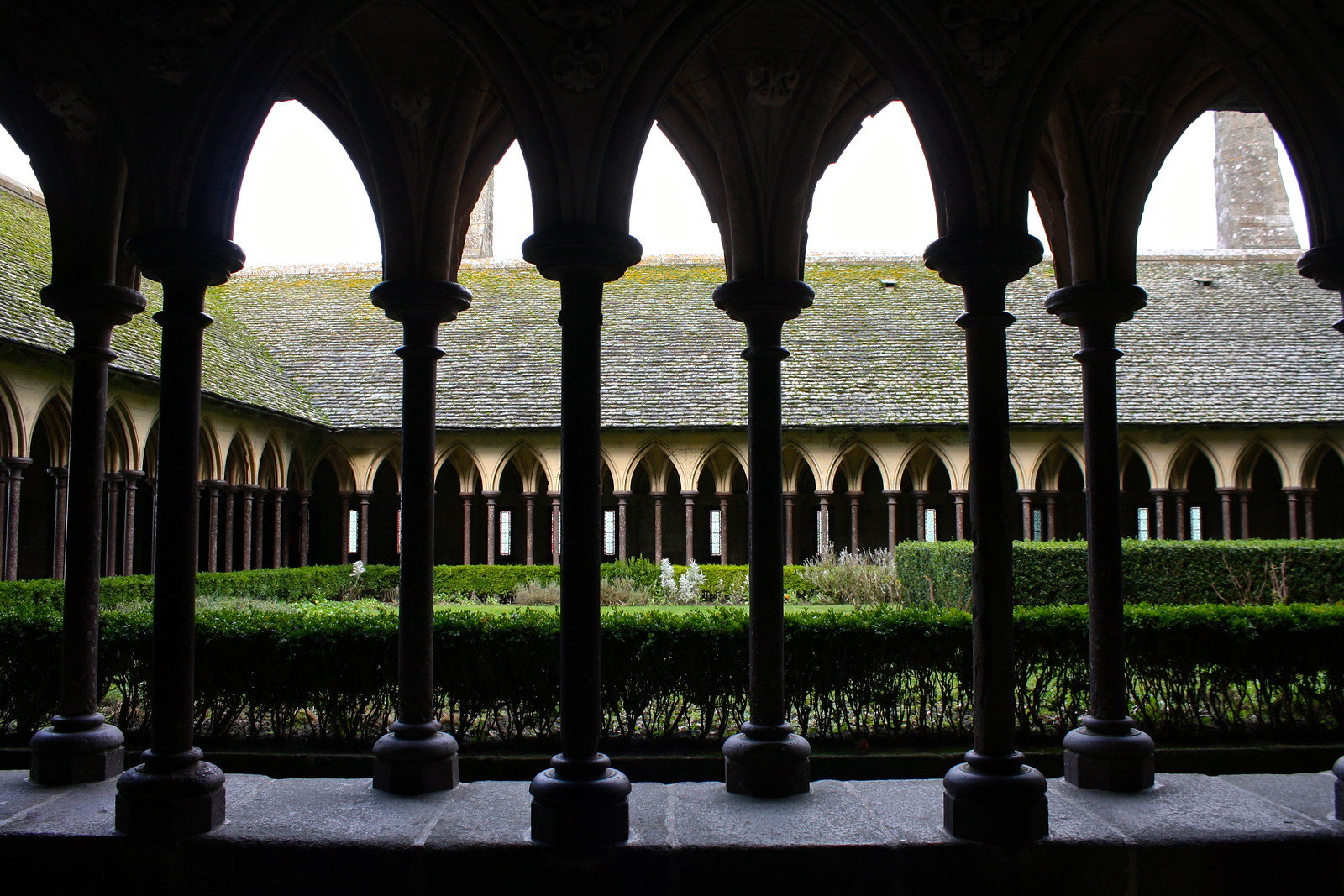 Cloisters, Mont-Saint-Michel, France