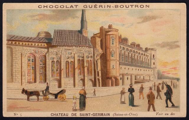 French Tradecard - Chateau De Saint-Germain