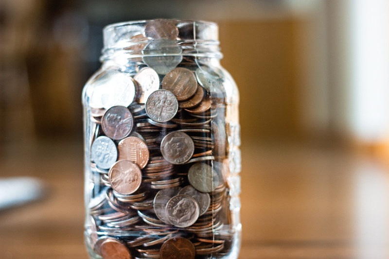 Change Jar Filled with Coins - Saving Money | Photo of a cha… | Flickr