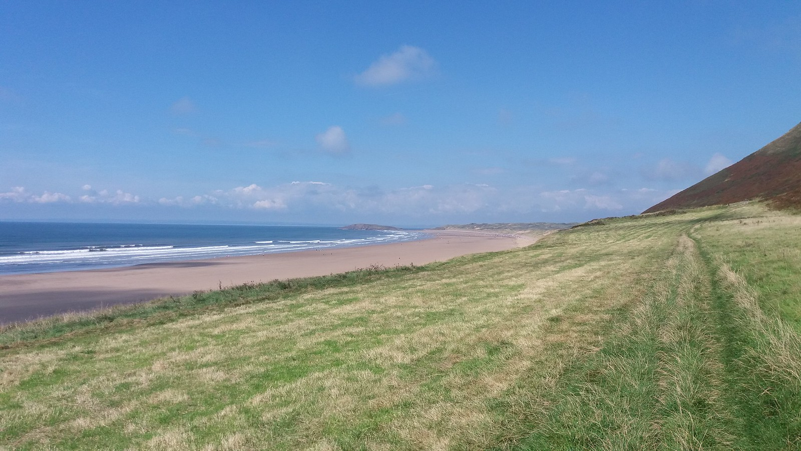 20160829_135713 Rhossili beach - bottom of hill path