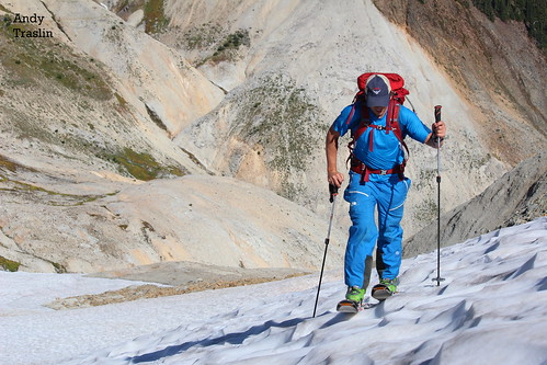 Mon, 2012-10-08 01:26 - Frozen Sun Cups.... (Ski Crampons) CHECK!  Photo Andy Traslin .... Skier Mike Traslin