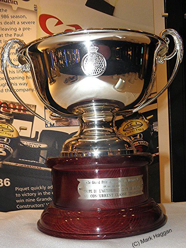 The trophy won at the 2003 Monaco Grand Prix by Juan Pablo Montoya