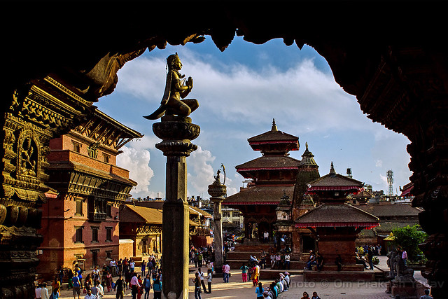 Framed view of Patan Durbar Square