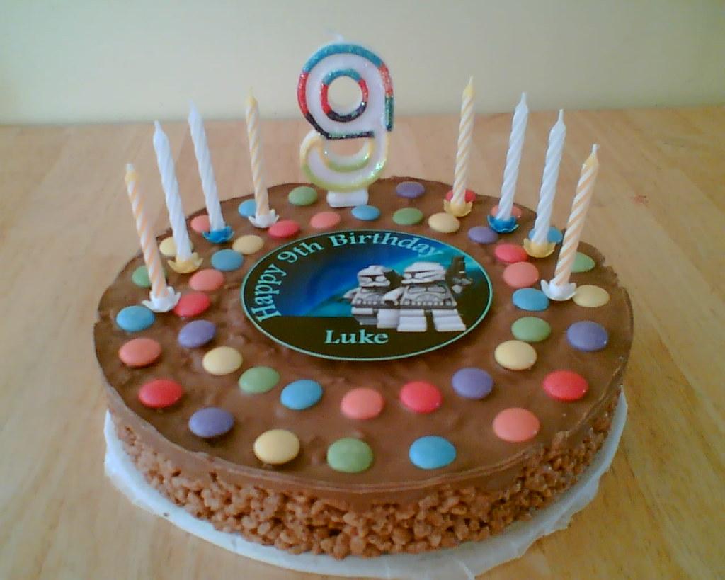 Awe Inspiring Rice Krispie Birthday Cake Quick And Easy Rice Krispie Cak Flickr Birthday Cards Printable Inklcafe Filternl