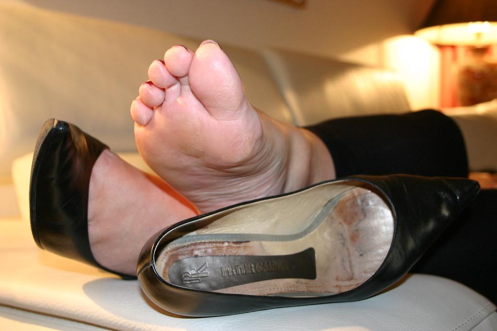 Smelly My Stinky Feet In Pantyhose POV Foot Smelling Karas Feet