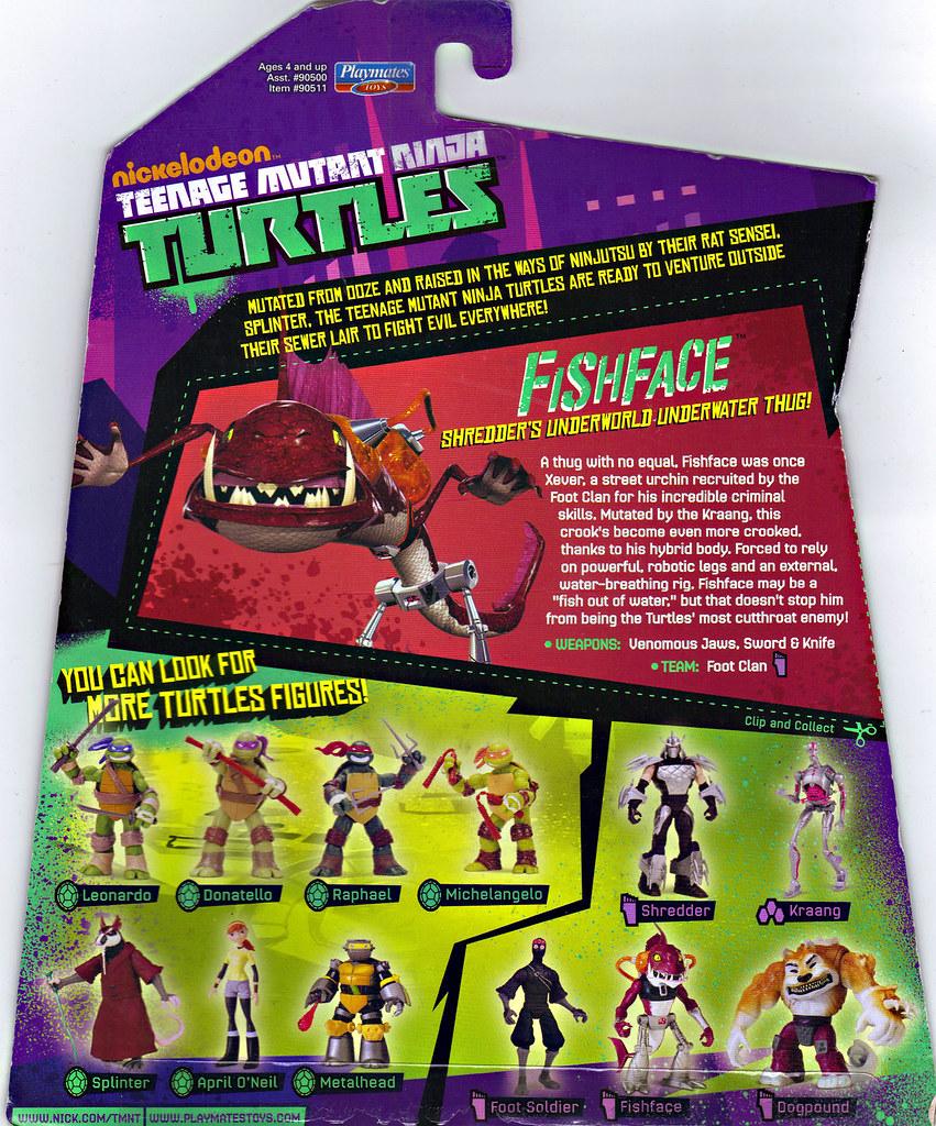 Nickelodeon  TEENAGE MUTANT NINJA TURTLES :: FISHFACE ..card backer (( 2012 )) by tOkKa