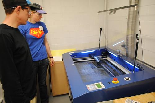 laser cutting... | by Thayer School Machine Shop