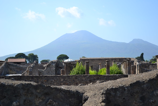 That moment...when you realize you're in a 2500 yo city that was buried for 15 centuries by THAT volcano....