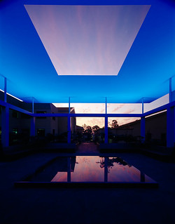 The Turrell Skyspace during a light show. The architectural installation by James Turrell '65 opened in 2007.