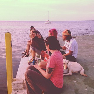 The clan.  At sunset. #keylargo @tarawagner @melimae79 @justinplayswithballs @calebabc @mrcliffy06 | by Heather Mattern