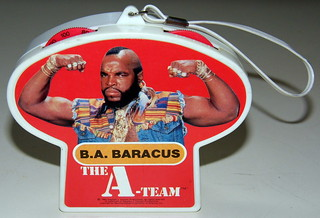 "Vintage A-Team Novelty Radio Featuring B.A. Baracus, ""Mr. T"", Made in Hong Kong, Copyright 1983"