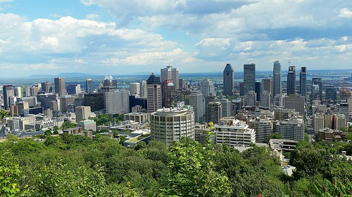 montreal quebec montroyal cityscape skyline city view scenery
