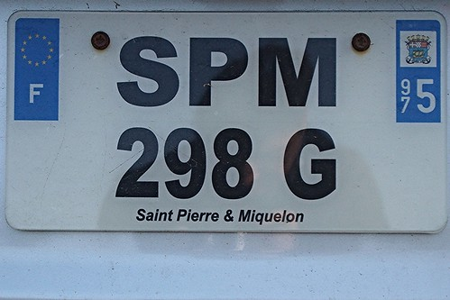 licence plate stpierre miquelon registration tag number