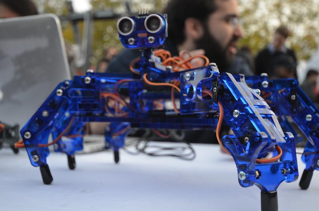 Maker Faire Somerville | Hexapod robot | Quoting from Maker