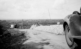 2-9 October 1942 - Tom's mate Norm Grainger (r) on the road back to Tripoli (Syria)