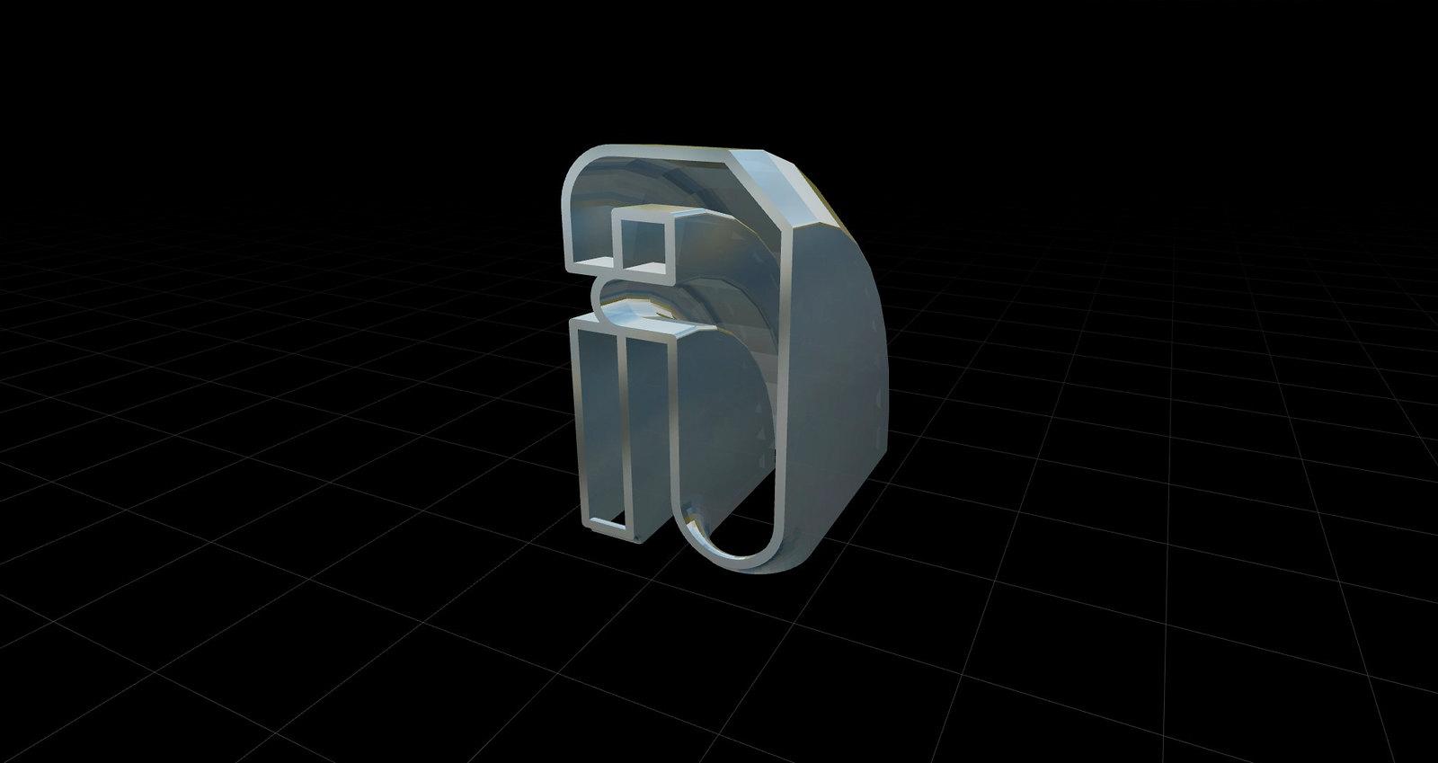 Gramapoética-Caracteres tipográficos 3D letra A-a-variaciones