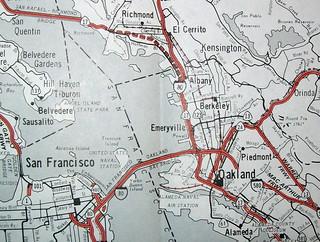 Bay Area CA Freeways  (Oct 1976)