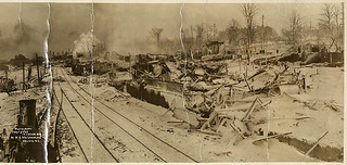 View looking south, showing the damage caused by the Halifax Explosion / Vue vers le sud, montrant les dommages causés par l'explosion d'Halifax