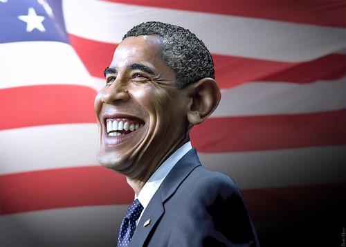 Barack Obama - Caricature   by DonkeyHotey