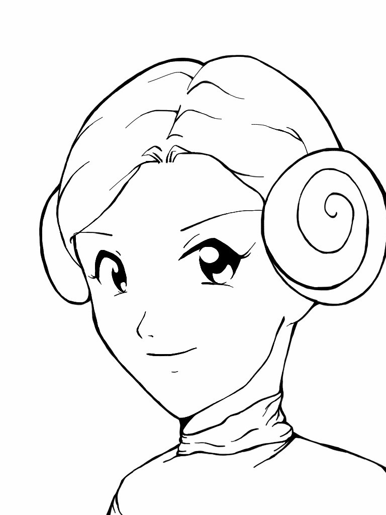Anime Star Wars Fan Art Princess Leia Was In The Mood To Flickr
