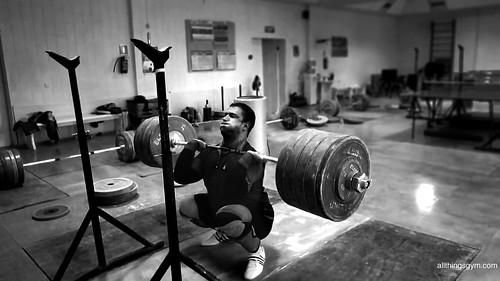 Dmitry Klokov 250kg Front Squat Wallpaper - All Things Gym   by Gregor Winter