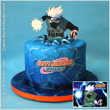 Outstanding Naruto Cake A Photo On Flickriver Personalised Birthday Cards Akebfashionlily Jamesorg