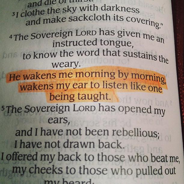 Good Morning Isaiah 504 Goodmorning Bible Verse Scri Flickr