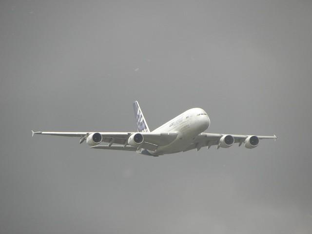 An Airbus A380 at the 2010 Farnborough Air Show