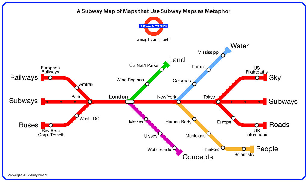 Subway Map Live.A Subway Map Of Maps That Use Subway Maps As A Metaphor Flickr