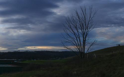 sunset panorama ny tree clouds dusk highschool powerline powerstation johnsoncity hugin