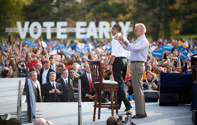 Barack Obama and Joe Biden in Dayton - October 23rd