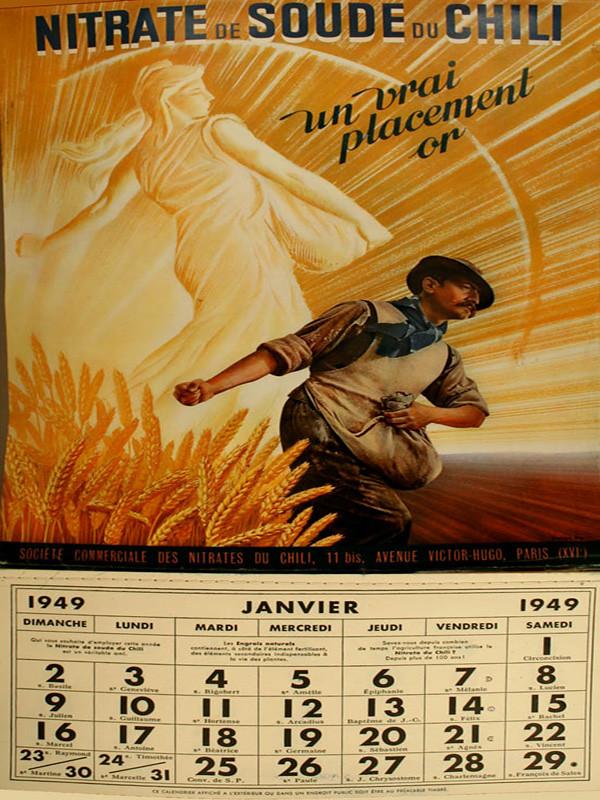 Calendario 1949.Salitre Calendario 1949 Calendario Nitrate De Soude Du