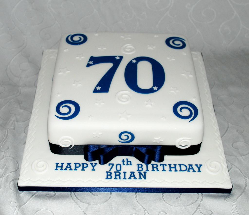 Fabulous 70Th Birthday Cake Brian A Classic Milestone Birthday Ca Flickr Personalised Birthday Cards Epsylily Jamesorg