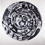 Charcoal on paper 100cm diameter