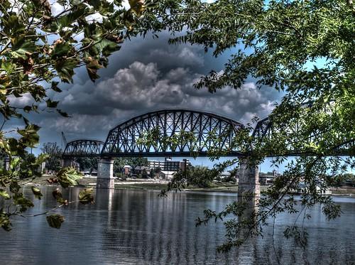 bridge water river kentucky indiana louisville ohioriver waterfrontpark jeffersonville