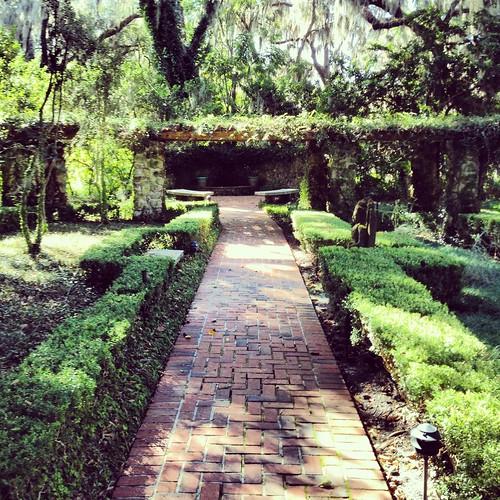 house brick green home gardens backyard florida sale path historic trellis canopy ocala instagram
