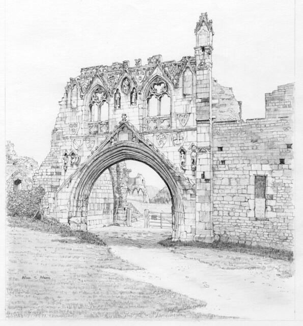 Kirkham Priory gatehouse, North Yorkshire