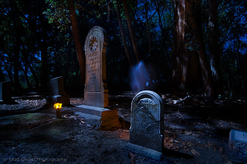 Ghostly Apparations in the Graveyard | by Matt Granz Photography