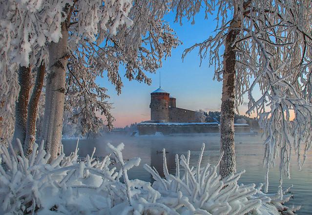 St Olafs castle in mid winter