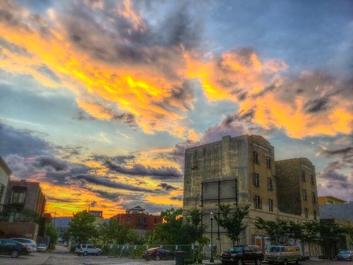 flickr red gray blue yellow orange light sunset clouds sky southside chattanoogatennessee arthop