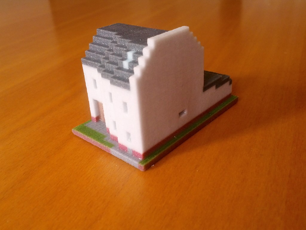 Minecraft House Front This Is A Model Of A House I Used T